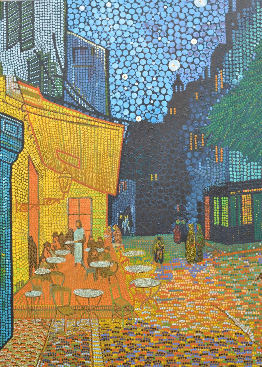 Terrasse du café le soir, Café Terrace auf dem Place du Forum, Vincent van Gogh 1888