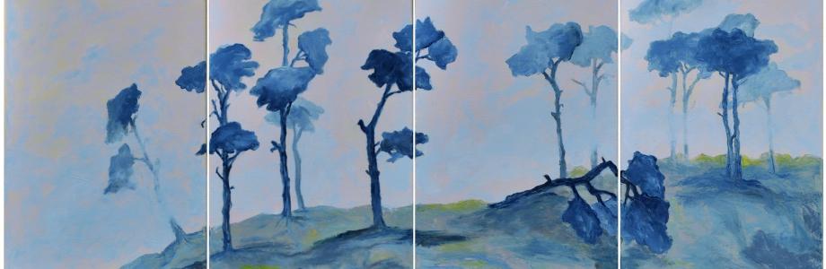 Kiefern in der Ölmalerei